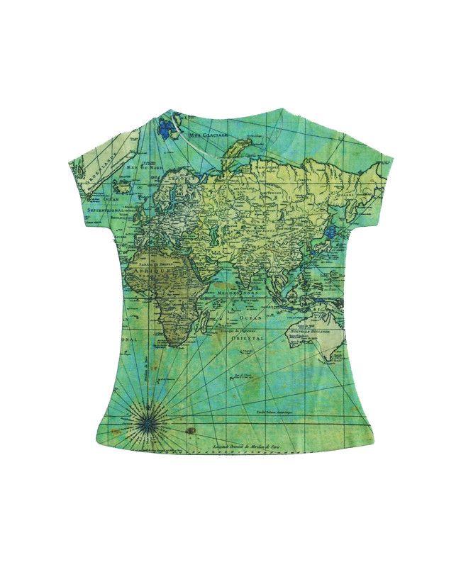 World Map Girls T Shirt
