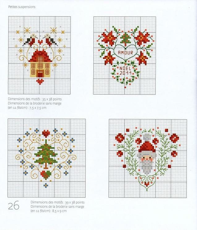 Схемы вышивки на новогоднюю схему 808