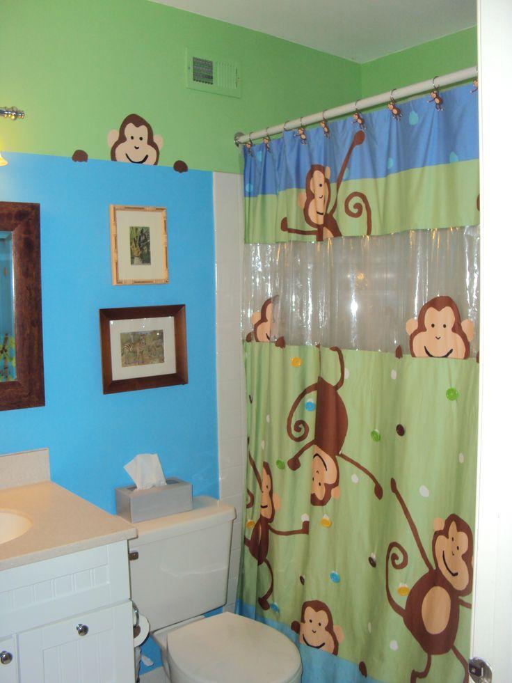 Monkey bathroom little boys bathroom ideas pinterest for Monkey bathroom ideas