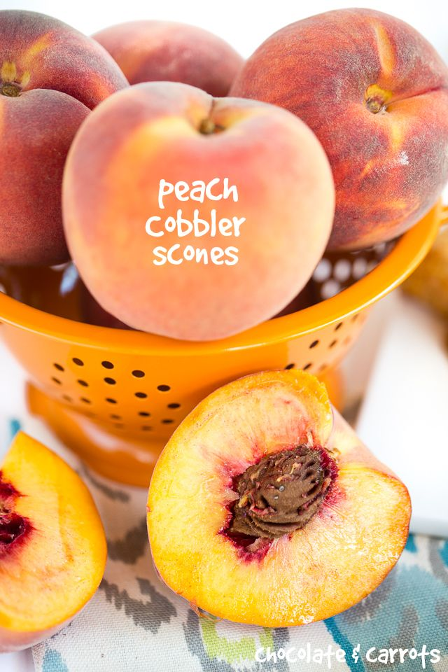 Peach Cobbler Scones | chocolateandcarrots.com
