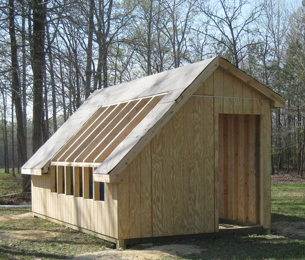 Shed Greenhouse Combo Off Set Roof Garden Pinterest