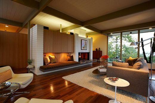 Mid Century Modern Fireplace Lareiras E Stoves