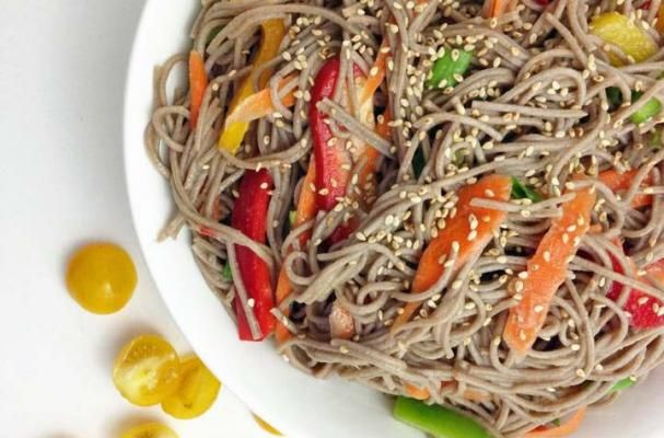 Soba Noodle Salad With Spring Vegetables Recipe — Dishmaps