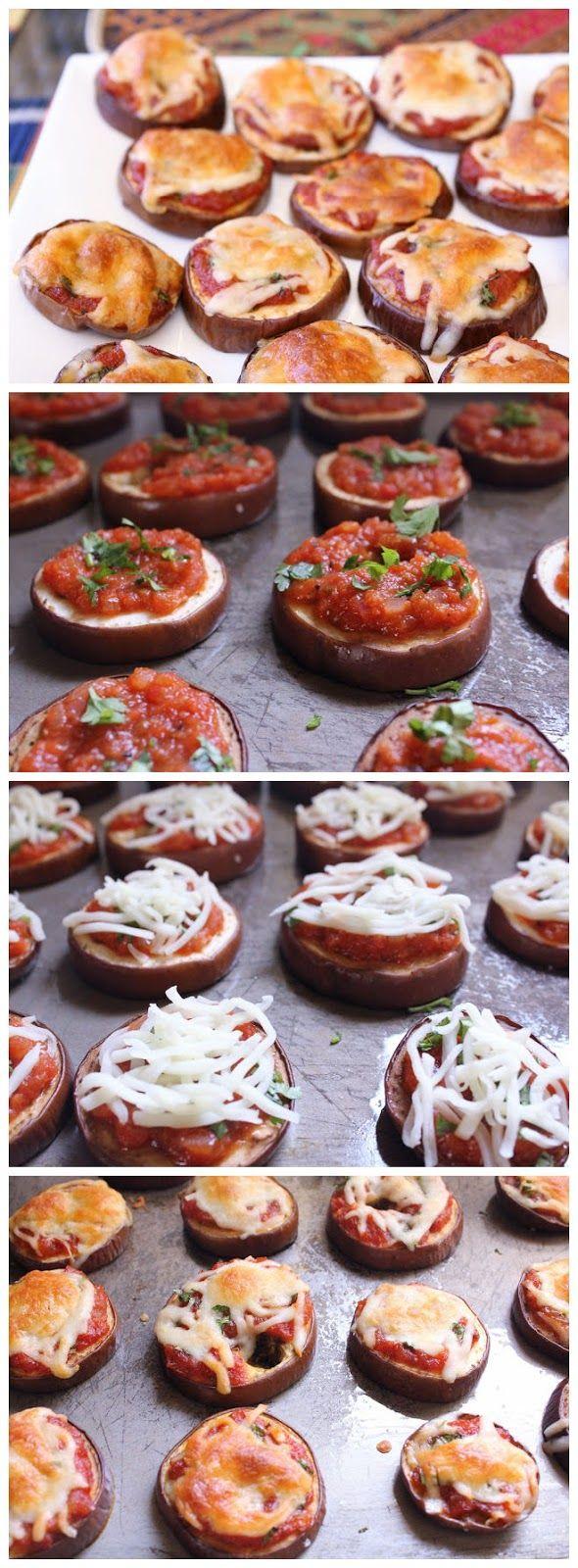 Eggplant Pizzas | Recipe- veggies | Pinterest