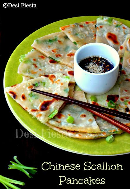 Chinese Scallion Pancakes. These pancakes are vegan and tasted so good ...