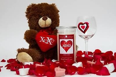 valentine diamond candle