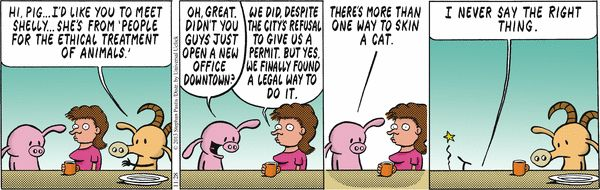 Pearls Before Swine Comic discovers that idioms can be dangerous