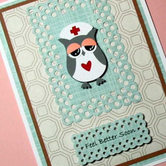 Get Well Card Feel Better Soon Card Handmade by PuppyLoveCreations, $4.50
