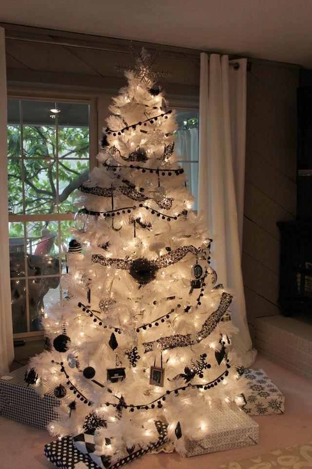 Black White Christmas Tree Christmas Ideas Pinterest