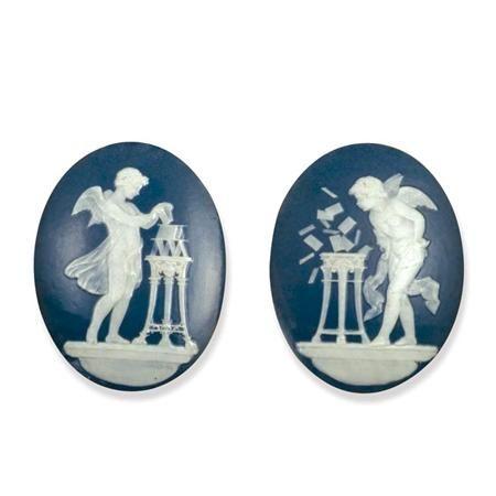 Pair of Framed Minton Pate Sur Pate Porcelain Plaques Marc Louis Solon ...
