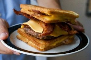 Bacon Hamburger Fatty Melt Cheeseburger | Food and Drink | Pinterest