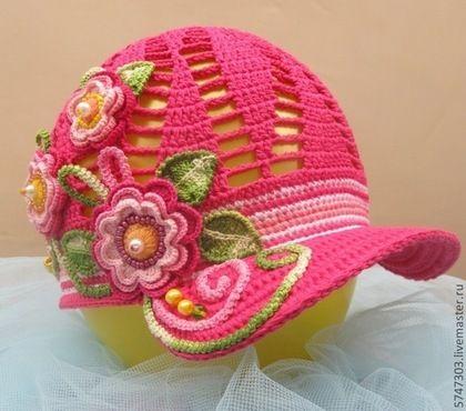 Кепки для девочек вязание