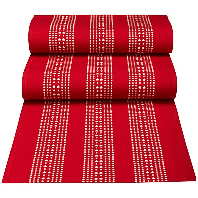 Red JohnLewis John  runner Dot Table john Hearts Buy lewis  at christmas Lewis  Woven table online Runner,