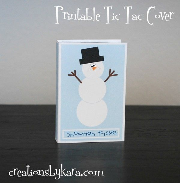 Creations by Kara: Free Printable Tic Tac Covers- Snowman Kisses