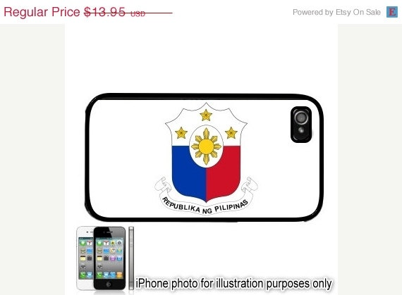 Philippines Style 3 Flag iPhone 4 4S Case Cover Skin by BlingSity, $11.86