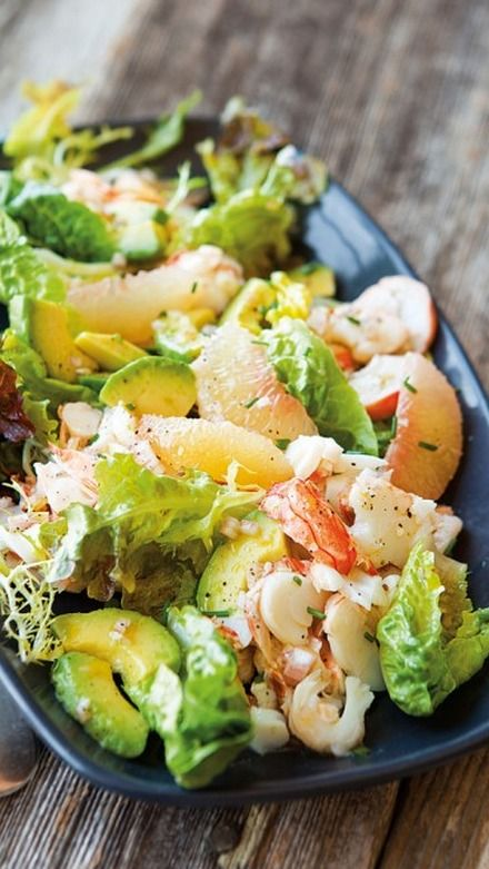 Lobster Salad with Grapefruit and Avocado (try to remember the lobster ...