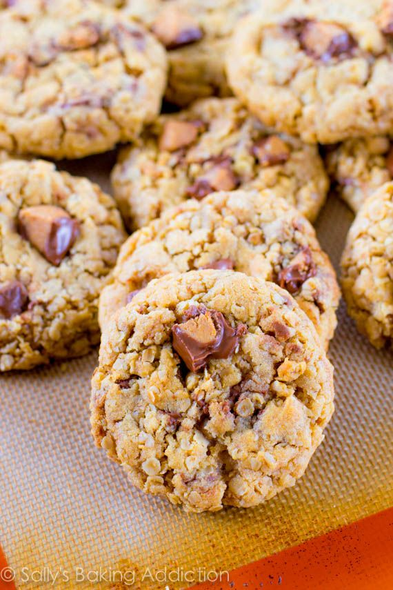 Butter Cup Oatmeal Cookies AB: Made them with old-fashioned oats ...
