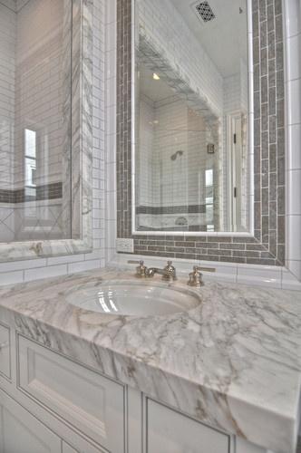 Cool Tile Mirror Frames On Pinterest  Bathroom Mirrors Framed Bathroom