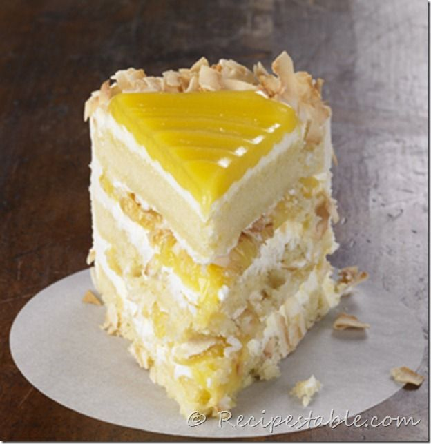 coconut layer cake with lemon glazed   Desserts   Pinterest