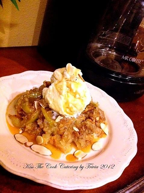 Apple Crumble with Vanilla Ice-cream   Sweetness ♡   Pinterest