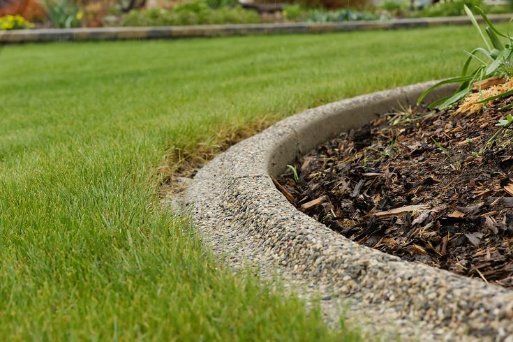 exposed aggregate curbing alberta diy landscape ideas pinterest