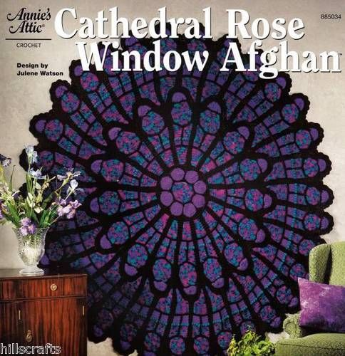 Annies Attic Stunning Cathedral Rose Window Crochet ...