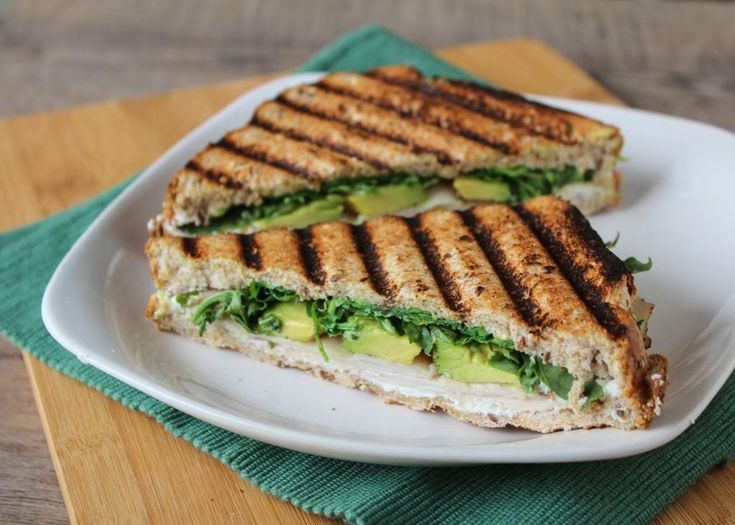 Turkey, Avocado, & Goat Cheese Panini - very mild flavoured but tasty ...