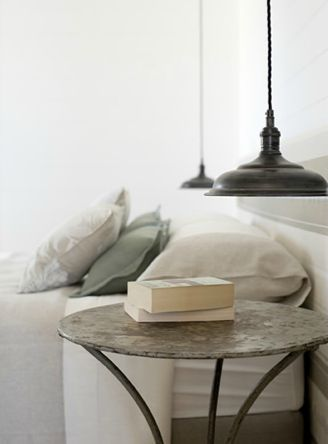 Bedside lamps beach house snow house pinterest for Beach cottage lighting fixtures
