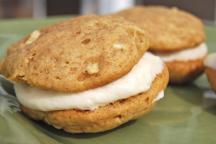 Apple whoopie pies with cream cheese filling