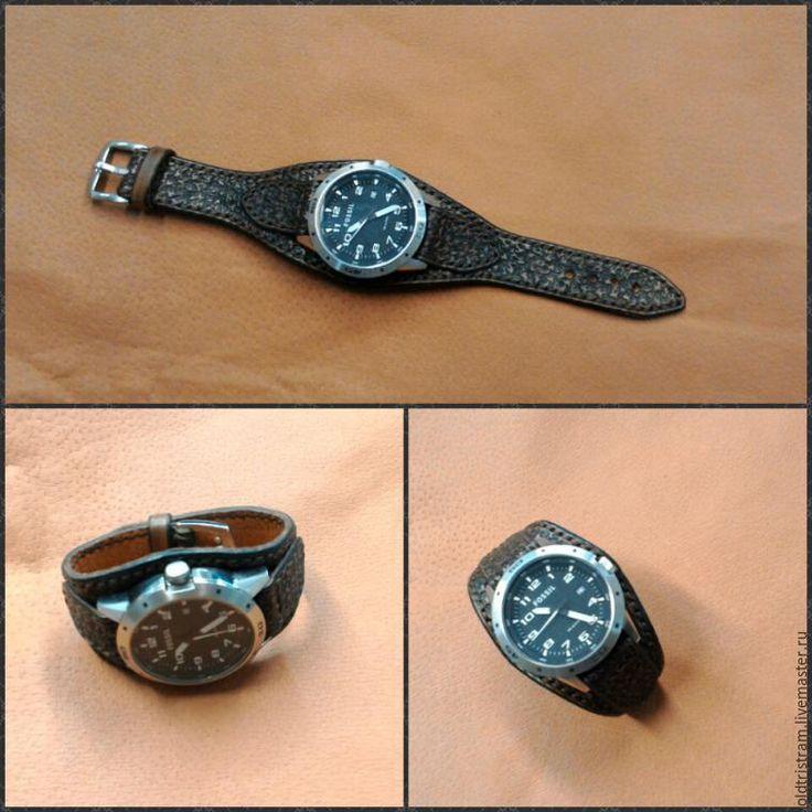 Кожаный браслет для часов своими руками 30
