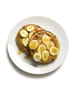 Waffles With Nut Butter and Bananas