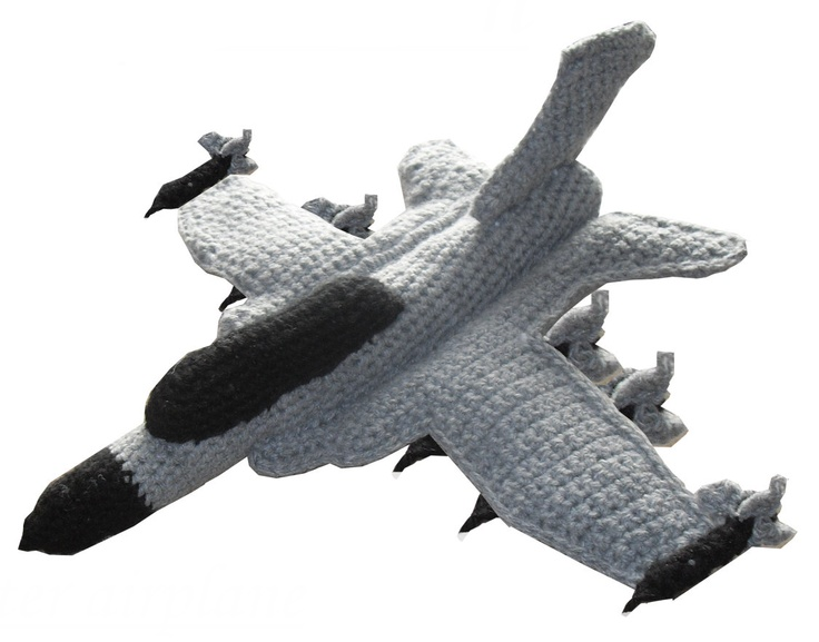 Amigurumi Pattern Crochet PDF - Fighter Airplane