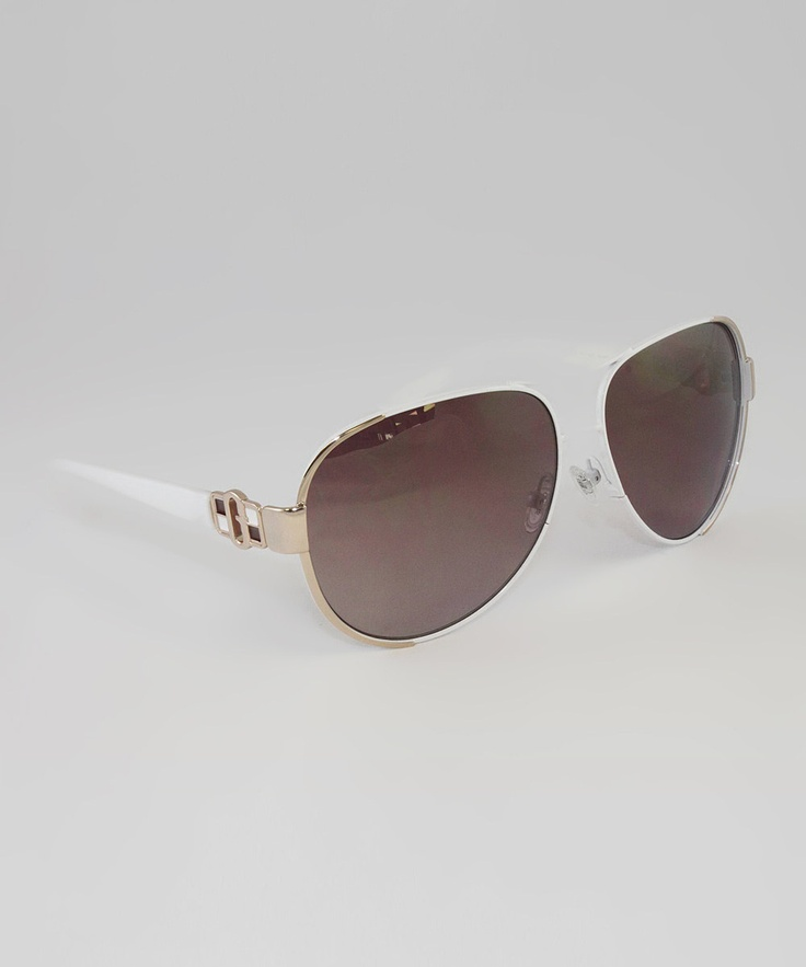White And Gold Sunglasses 92