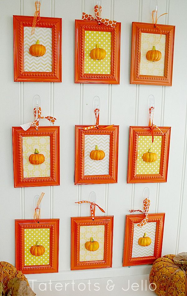 3-D Pumpkin Art - Decorate your wall for fall!