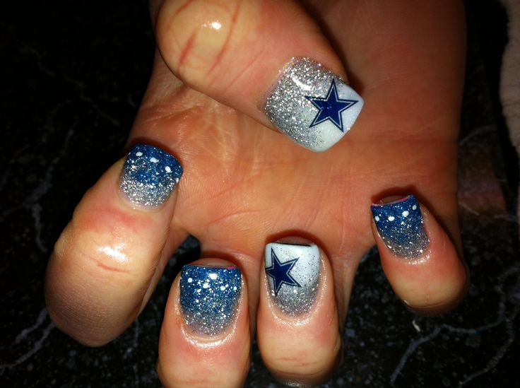 Cowboy nail art choice image nail art and nail design ideas dallas cowboys nail art ledufa impressive dallas cowboys nail art 24 on inspiration article prinsesfo choice prinsesfo Image collections