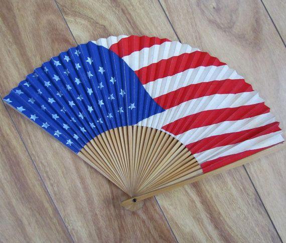 american flag fan