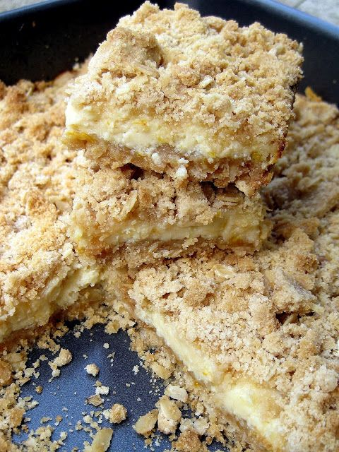 Meyer Lemon Crumb Bars | All About Lemons | Pinterest