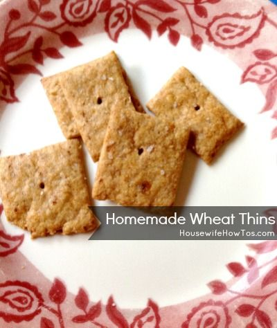 Recipe: Homemade Wheat Thins - Housewife How-To's®