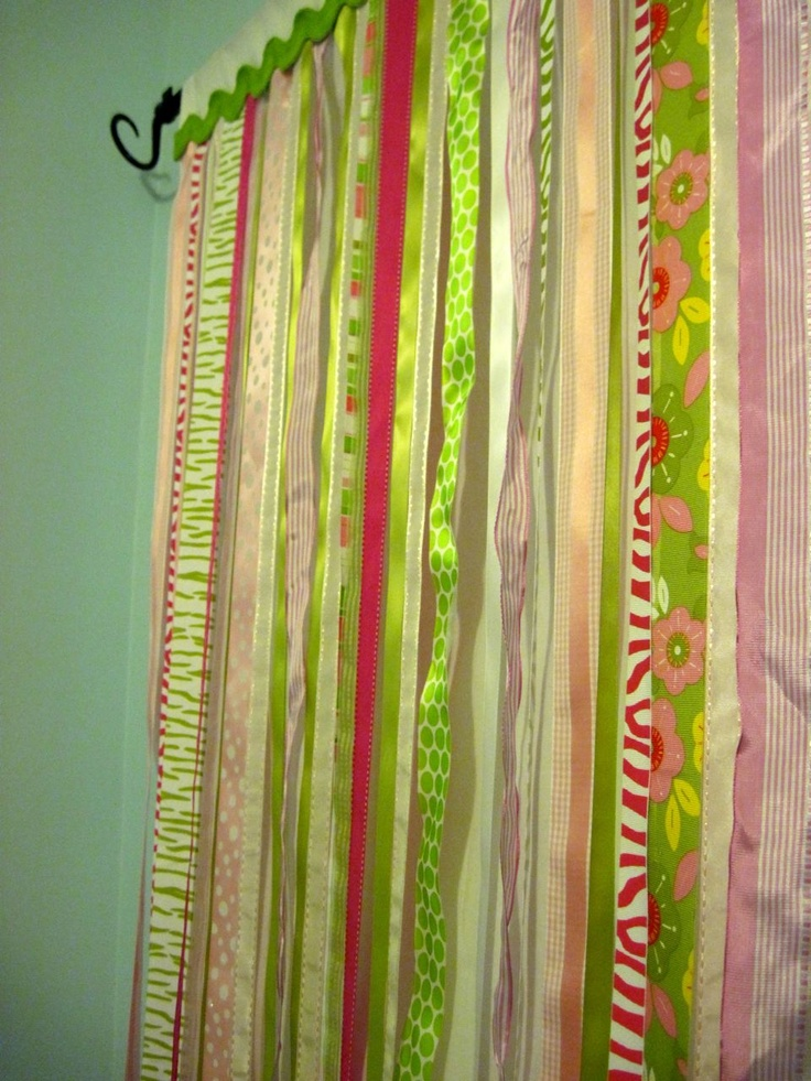 Ribbon Curtains - Feaverishly Quilting | For the Home | Pinterest