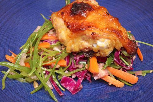 Miso Chicken with Asian Slaw | Recipes | Pinterest