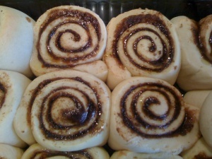 Clone of a Cinnabon - got to admit - I'll buy a can of pizza dough to ...