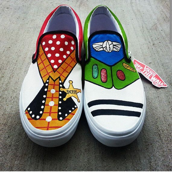Toy Story Slippers : Toy story vans buzz lightyear and woody by