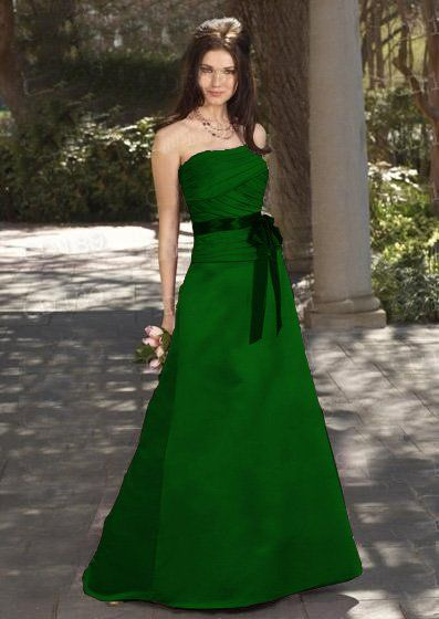 Forest green bridesmaid dresses gowns style pinterest for Forest green wedding dress