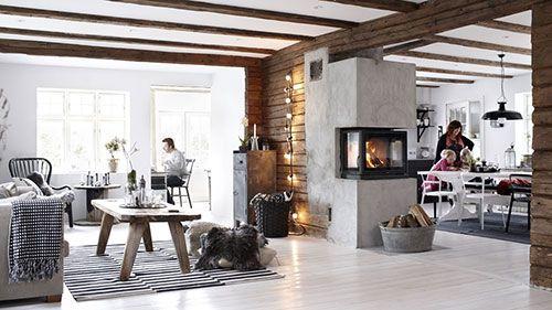Rustieke woonkamer inrichten met Monica  Inside.  Pinterest
