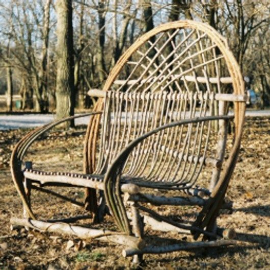 Willow furniture willow twigs pinterest for Rustic garden furniture