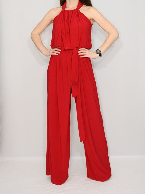 Beautiful Womens Red Jumpsuit  EBay