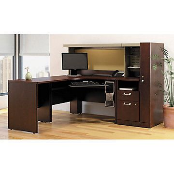 Desk with Hutch and Storage Tower - OFG-LD1160 Home Office Furniture