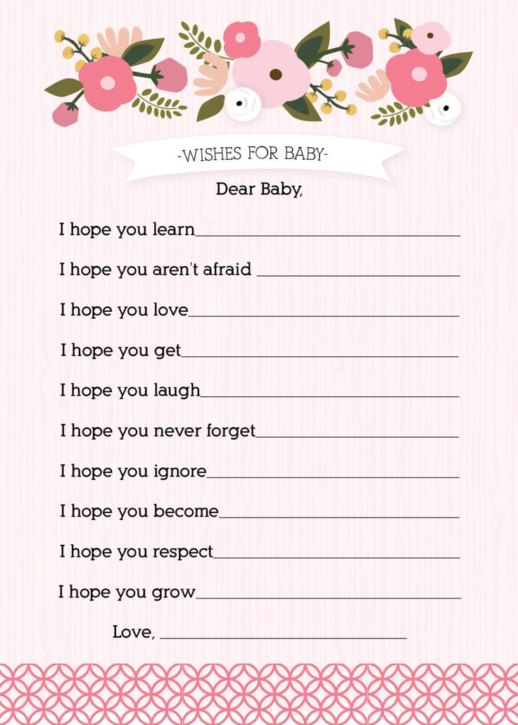 girl baby shower activity wishes for baby via etsy