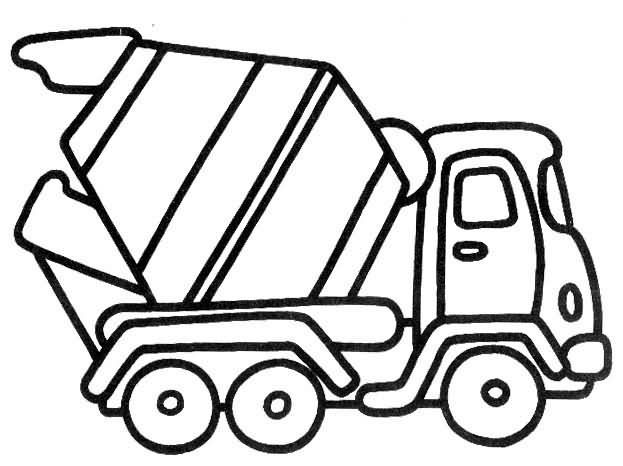 3 Year Old Truck Coloring Pages Printable