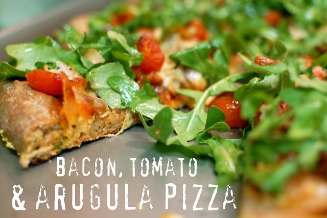 bacon, tomato, arugula pizza | dinner | Pinterest